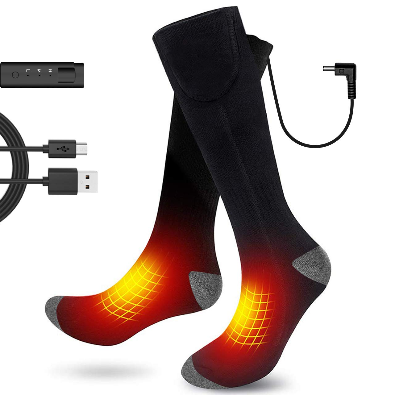 Aqziill Heated Socks -Electric Battery Cotton Socks Get Whole Toes Warm-Rechargeable Thermal Socks Breathable Foot Warmer for Skiing Hunting Camping Riding Motocycle by Aqziill