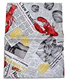 Best Elrene Patio Tables - Summer Seafood Cookout Vinyl Tablecloth - Lobsters, Clams Review