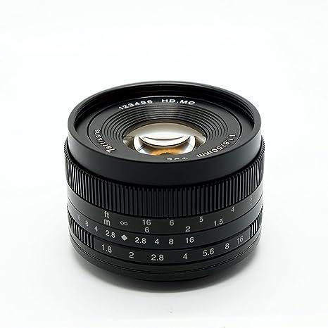 7artans F1.8 APS-C - Lente de Enfoque Manual (50 mm, para cámaras ...