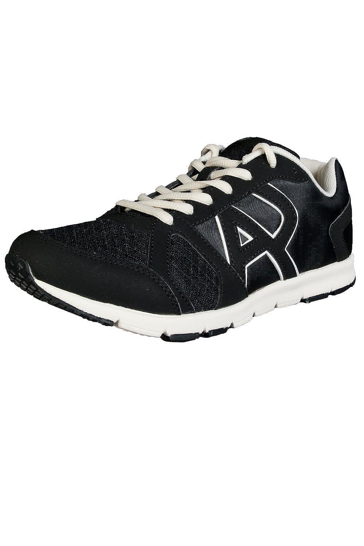 820739c1 Amazon.com: ARMANI JEANS Runner Monochrome Mesh Black Trainer: Shoes