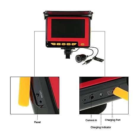 Lixada 4,3 Color Digital LCD Center≥1000TVL Fish Finder HD IR ...