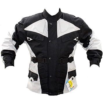 German Wear GW302J - Chaqueta de moto, negro/gris claro, M: Amazon.es: Coche y moto