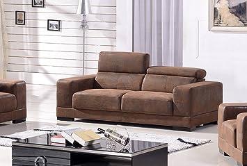 Microfaser Sofa 3 Sitzer Mikrofasersofa Dreisitzer Couch 2017 3 Vf03