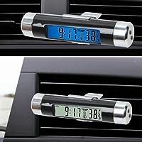 Mioloe Digital LED Reloj de Coche Termómetro Electrónico