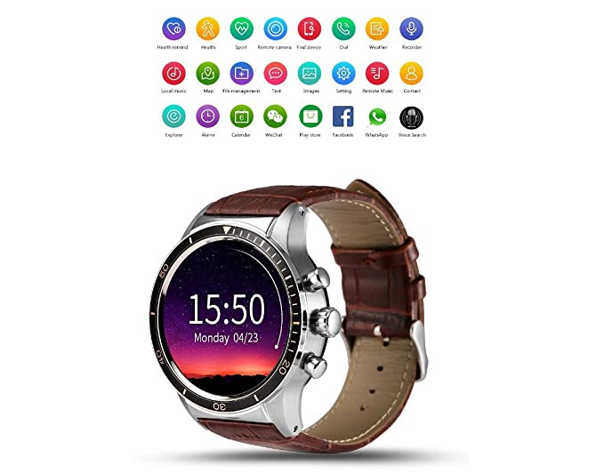 Amazon.com: SUHHO Android 5.1 Bluetooth Smart Watch Phone ...