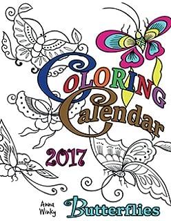 Coloring Calendar 2017 Butterflies