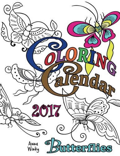 Coloring Calendar 2017 Butterflies Winky product image