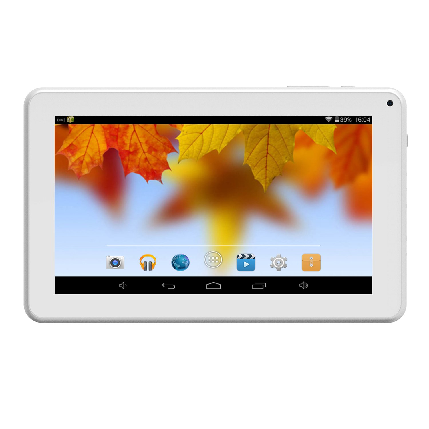 Android Tablet 9 inch WiFi Blutooth Pad with Dual Camera 1GB RAM 8GB ROM Expandable 64GB Storage Tablet PC,White