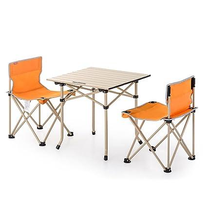 GYH ZhuoZi LJHA Mesas y sillas Plegables Silla de Pesca ...