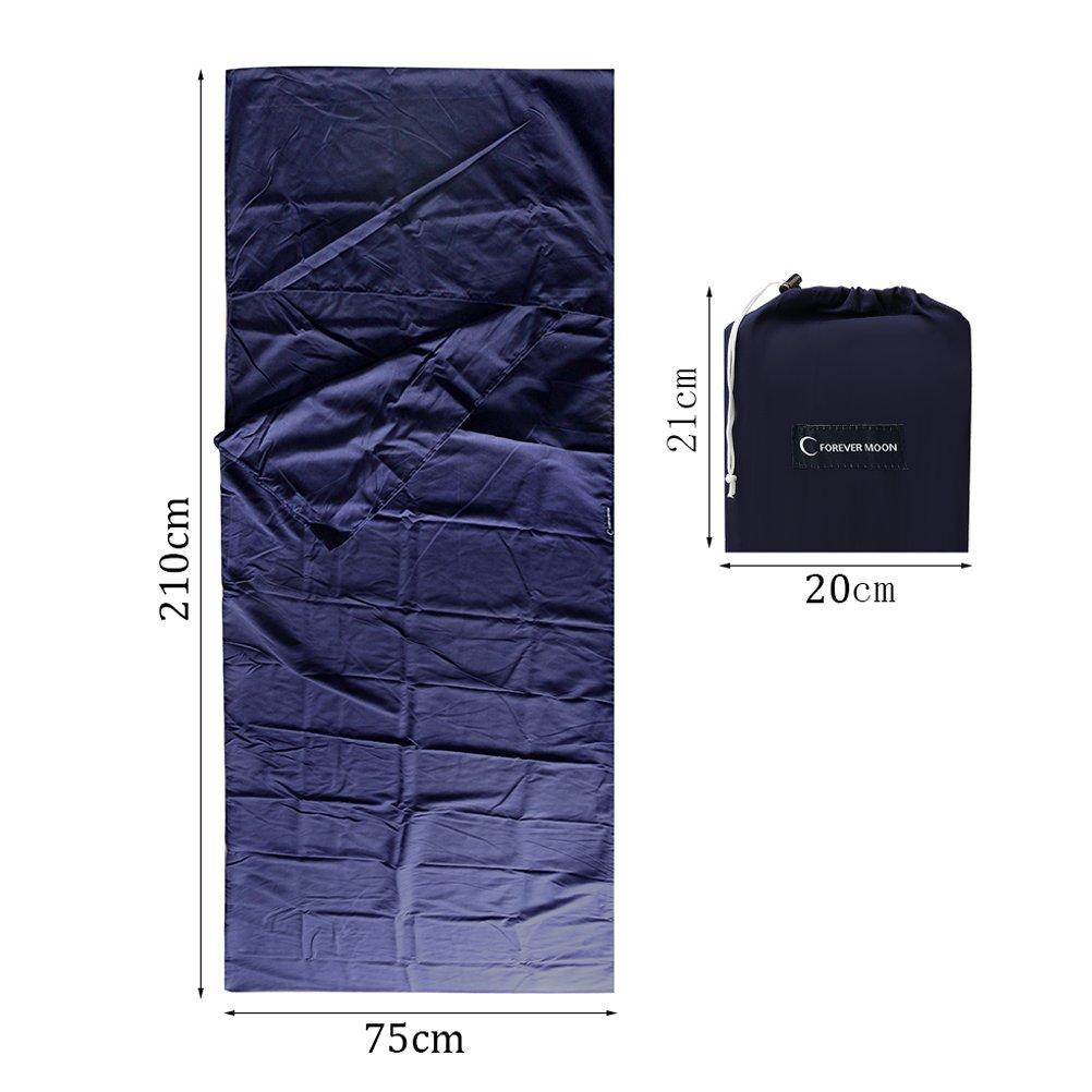 H/üttenschlafsack f/ür Camping oder ReiseBusiness Hotel(Marineblau,75cm X 210cm) Ljue Schlafsack