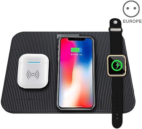 huangThroStore Cargador Inalámbrico 3 IN 1 para Cargar Portátil para Apple Reloj iPhone 8XS XR Teléfono Móvil Airpods,iPad - EU: Amazon.es: Hogar