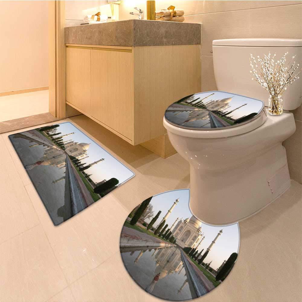 MikiDa Bathroom Non-Slip Floor Mat taj mahal agra india Machine-Washable