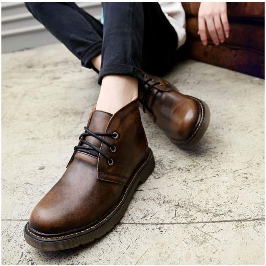 WAXFAS Boots Fashion Trend Handmade Leather Men's Leather New Casual Men's Shoes Autumn and Winter Fashion 41