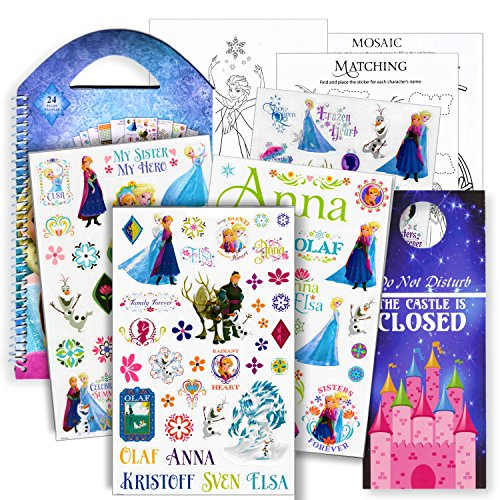 Disney Frozen Stickers Travel Activity Set with Stickers, Activities, and Castle Door Hanger]()