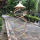 Handicrafts Home Door Hanging Decoration Strings and Ornaments Brass Bell Wind Chime for Shop Hallway and Garden Good Lucky for Wedding Birthay Mother's and Father's Day's Gift
