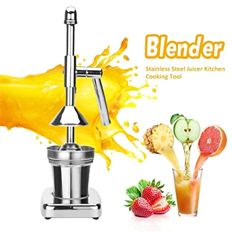 Citrus Juicer Hand Press, Manual Juicer Extractor, Portable Stainless Steel Hand Orange Lemon Lime