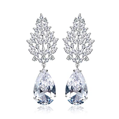 image large double bridal the products aqua stud embellished earrings swarovski teardrop jewelry rose crystal cushion