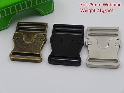 Nueva 5pcs hebillas de cinturón de metal de 25 mm correas correa de liberación rápida mochila