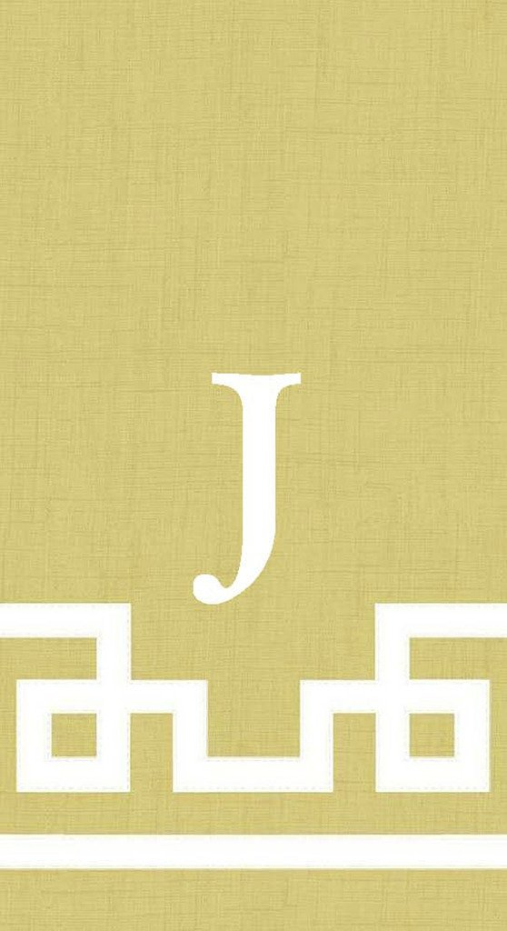 Hand Towels Guest Towels Personalized Monogram Custom Initial Party Wedding Gold 100 Pc Letter J by Caspari
