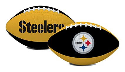 173681bea3d Rawlings NFL Pittsburgh Steelers Youth Black-Gold Hail Mary Rubber Football