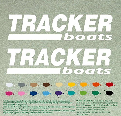 (Pair of Tracker Boats Decals Vinyl Stickers Boat Outboard Motor Lot of 2 (12