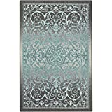 Maples Rugs Area Rugs - Pelham 5' x 7' Non Slip Large Rug [Made in USA] for Living Room, Bedroom, and Dining Room, Grey/Blue