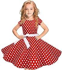 6e7b10cc0c5 Girls 50s  Audrey  Vintage Swing Rockabilly Retro Party Dress …