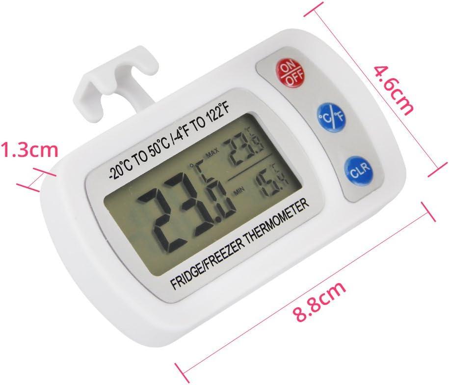 JTDEAL Termometro Frigorifico, 2pcs Termometro Nevera,Termómetro ...