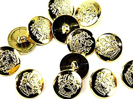 CROWN Round Military Shank Buttons - per pack of 9
