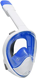 Ivation Snorkel Mask - Full-Face Snorkel Mask - 180° Visibility with Panoramic Viewing Area, Tubeless Design Prevents Water from Entering Mask & Mouth