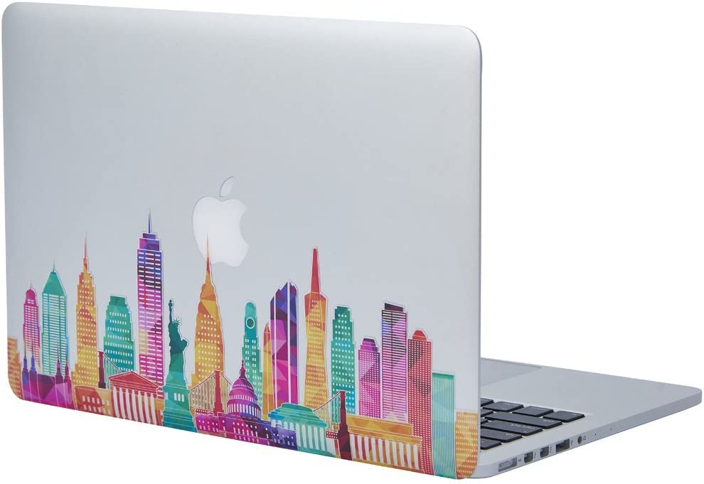 "NDAD Famous Buildings in the United States Removable Vinyl Decal Sticker Skin for Macbook Pro Air Mac 13"" Laptop"