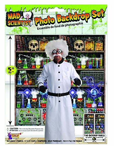Mad Laboratory Halloween (Mad Scientist Lab Back Drop)