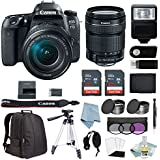 Canon EOS Rebel 77D Bundle With 18-135mm USM Lens + Advanced Accessory Kit - Includes EVERYTHING You Need To Get Started