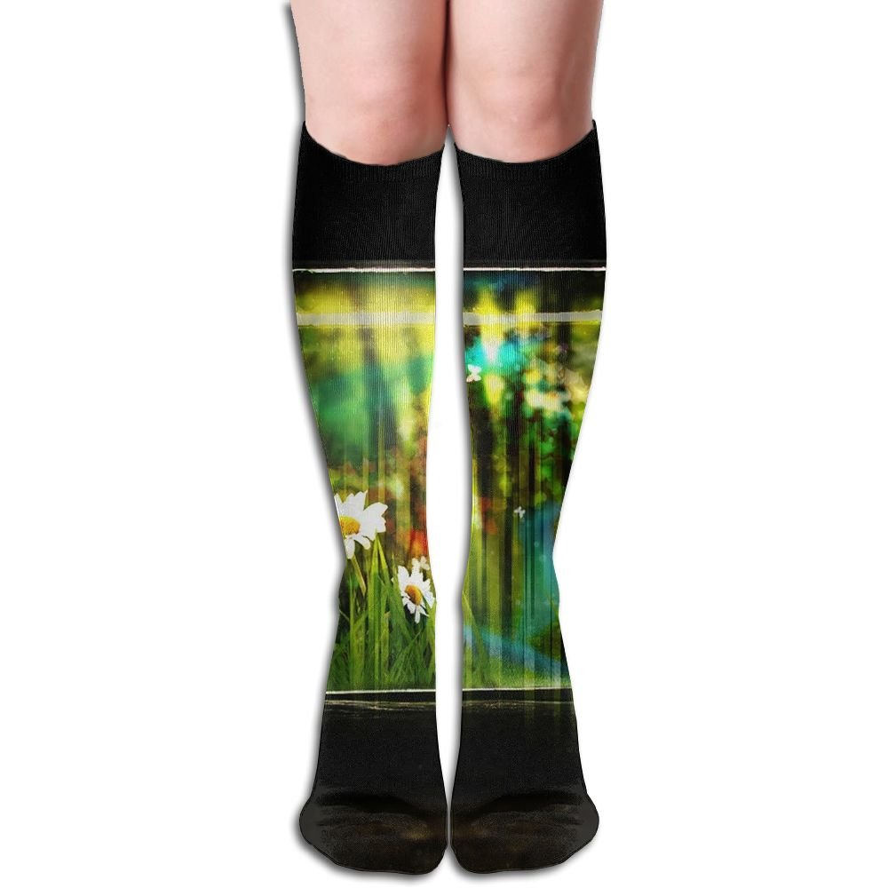 Tube High Keen Sock Boots Crew Bank Glass Compression Socks Long Sport Stockings