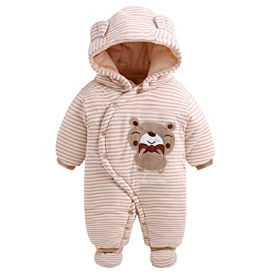 624c4e5ad735 Amazon.com  Fairy Baby Infant Baby Boy Girl Outfit Romper Winter ...