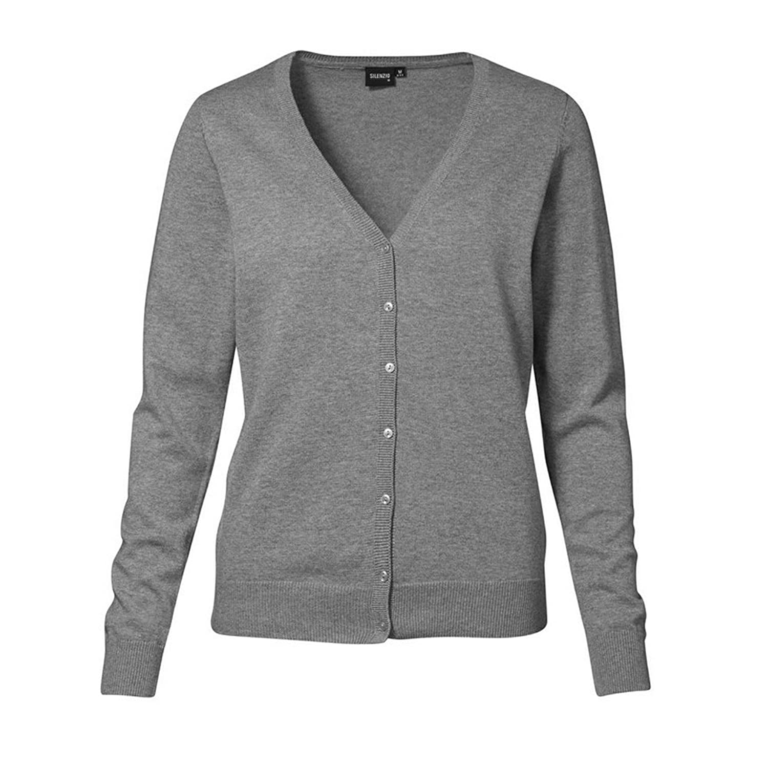 ID Womens/Ladies Knitted Button Up Cardigan Jumper