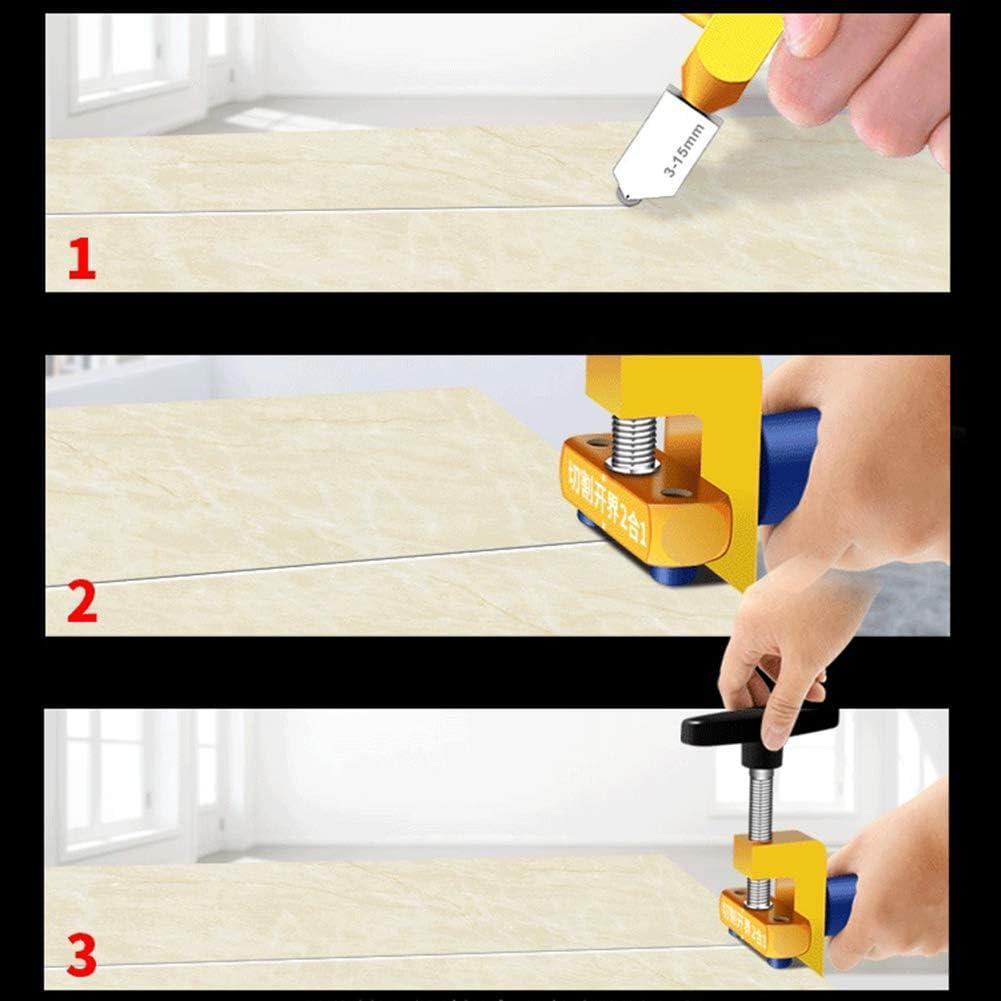 separador de azulejos somubi Cortador de azulejos manual 2 en 1 multifunci/ón abridor de azulejos de cer/ámica f/ácil cortador de azulejos cortador de vidrio