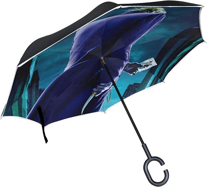 Paraguas de Joker invertidas Reversibles para Mujeres y Hombres al ...