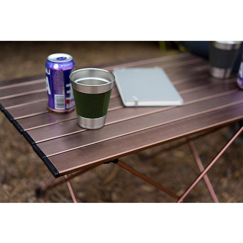 WHT Portable Foldable Aluminum-alloy Camping Table with Carrying Bag for Camp Picnic Beach Fishing and Travel