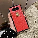 Galaxy Note 8 Grid Plaid Case,SelliPhone Luxury Design Cute Slim Diamond Lattice Soft TPU Trunk Case,Unique Women Girls Lady Phone Skin for Samsung Galaxy Note 8 (2017),Red