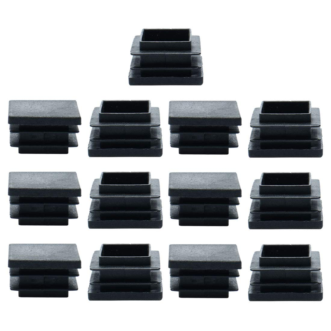 for 3.07 to 3.15 Inner Size Furniture Glide Floor Protector uxcell 13pcs 80 x 80mm Plastic Square Ribbed Tube Inserts End Covers Cap