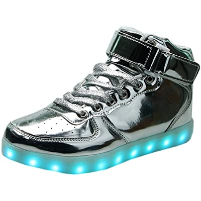 Led Shoes High Top USB Charging For Boy&Girl's Light Up Flashing Shoes Christmas Halloween Gift