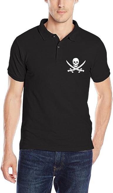 Cool bandera pirata Calavera y tibias cruzadas camisa de cuello para hombre Polo camisas: Amazon.es: Ropa y accesorios