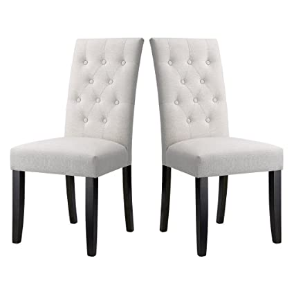 high back dining chairs Amazon.  LANGRIA Button Tufted High Back Dining Chair Modern  high back dining chairs