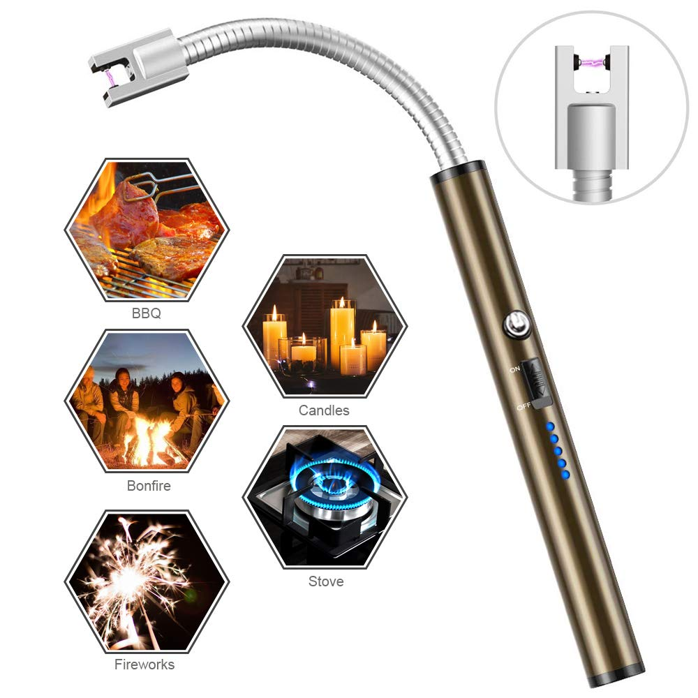 Boncas Flexible Arc Lighter USB Candle Lighter Plasma Lighter Rechargeable Windproof Lighter Long for Household Camping Cooking BBQ (Candle not Included) by Boncas (Image #7)