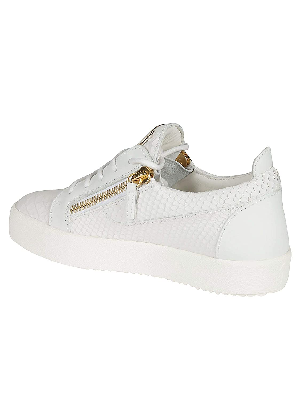 Zanotti Weiss Leder Giuseppe Rw70000014 Damen Design Sneakers dCBoexWr