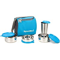 Signoraware Sling Steel Lunch Box with Steel Bottle_1