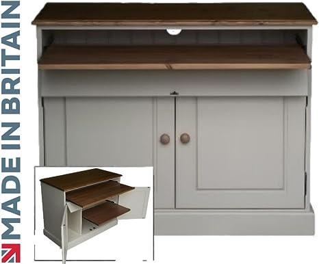 100% escritorio de madera, pintada en blanco y encerado seleccione ...
