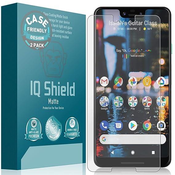 IQ Shield Matte Screen Protector Compatible with Google Pixel 3 XL [Case  Friendly][2-Pack] Anti-Glare Anti-Bubble Film