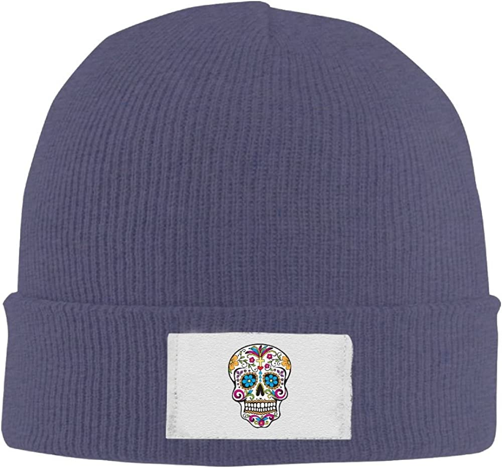 PWLLS Unisex Fashion Floral Sugar Skull Vintage Dancing Knit Hat Hipster Head Wear Fashion For Outdoor /& Home